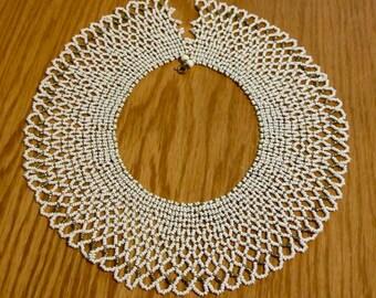 beautiful beaded lace choker