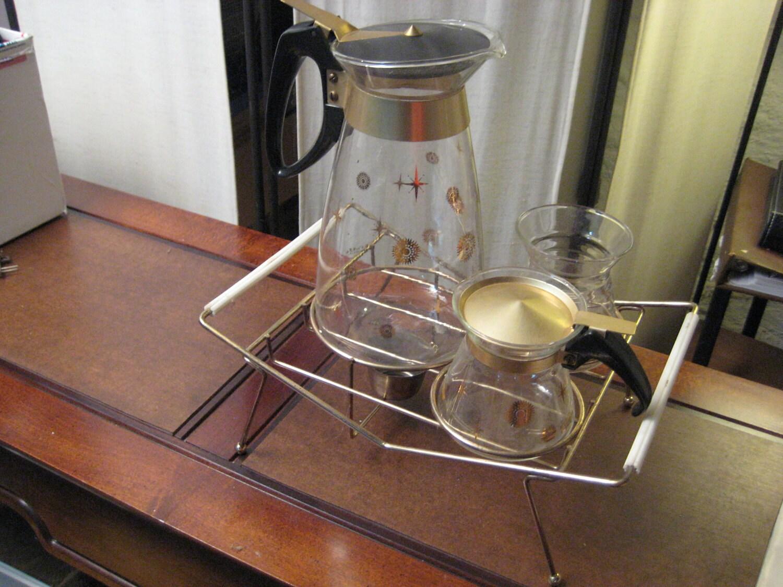 vintage 1950 pyrex glass kaffee klatch coffee set 995cw. Black Bedroom Furniture Sets. Home Design Ideas
