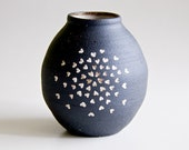 Black and White Ceramic Vase