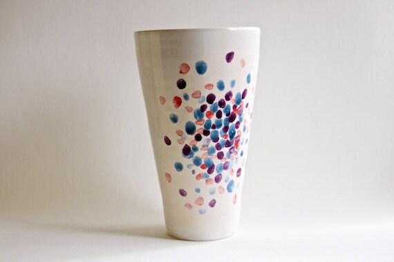 Ceramic Vase Polka Dots