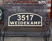 Large Exterior Home House Address Sign with Street Name or Family Name