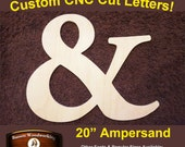 """Large 20"""" Unfinished Unpainted Wall Decor Ampersand Letter, Great for Home Decor, Kids Rooms, Nursery"""
