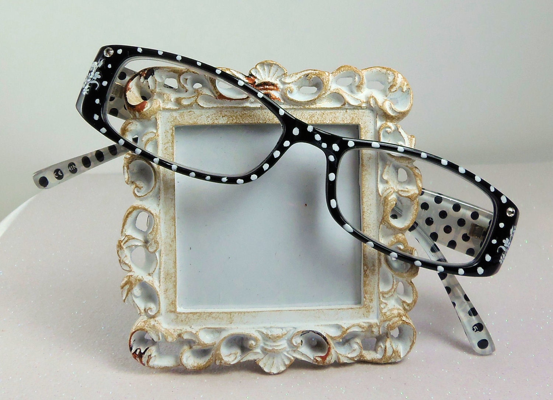 Polka Dot Handpainted Redaing Glasses.150 Strength by ...