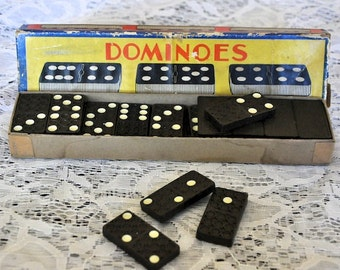 Vintage Wood Domino Set