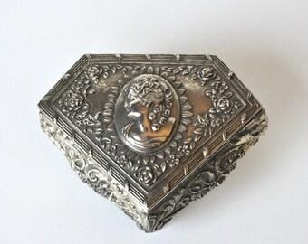Vintage Cameo Jewelry Casket