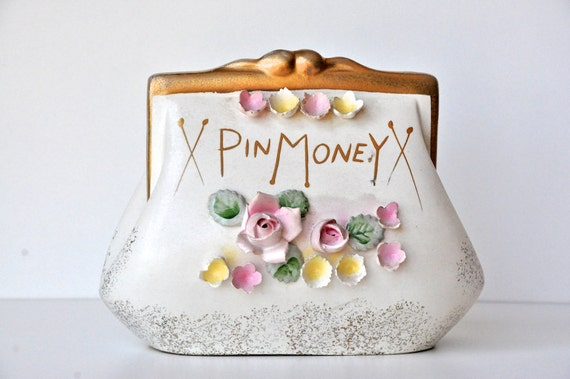 Vintage Lefton Pin Money Bank