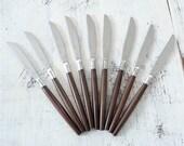 Danish Modern Set of 10 Ekco Stainless Steel Knives