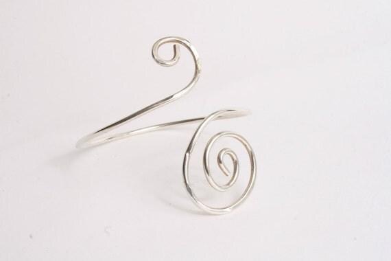 Sterling curled bracelet