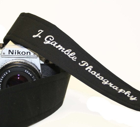 Camera Strap Custom Embroidered SLR DSLR by by ... - photo#48