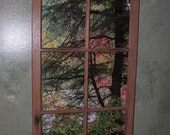"Recycled Barn Window ""Autumn Splash"""