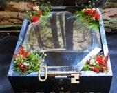Fairy Box, Trinket Box, The Dark Mirror, Fantasy Art, Fairy WIngs, Woodland