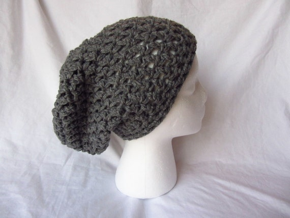 Grey Chunky Slouchy Beanie - Made to Order