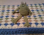 Crochet Shell Stitch Baby Afghan & Toy Frog