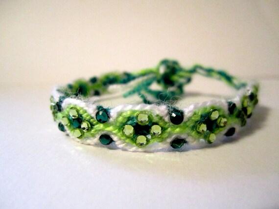 "Rhinestone Friendship Bracelet- ""Lady Luck"""