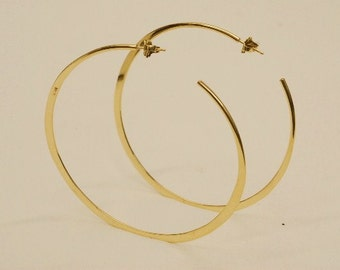 18k LARGE HOOP EARRINGS