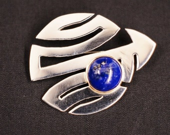 STERLING SILVER and LAPIS pin