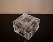 Leaded crystal box with lid