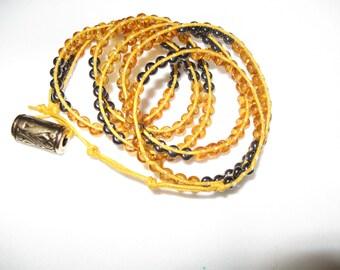 Wrap Bracelet - Black and Gold