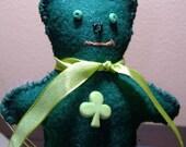 Patrick the Bear St. Patrick's Day Felt Ornament