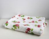 Vintage - Cannon Monticello Floral Full Flat Sheet