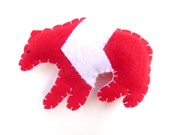 Canada day red and white bear with chevron magnet, number 34