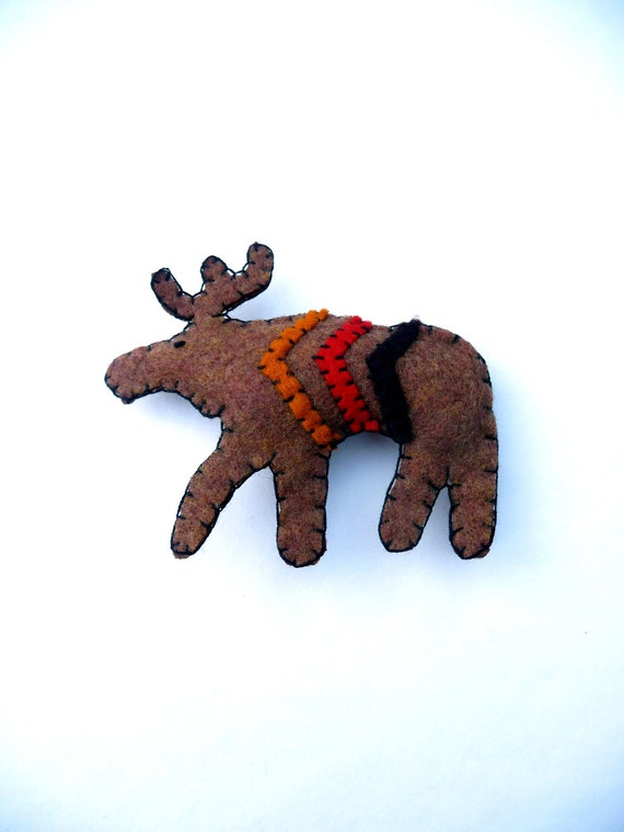 Harvest colors rustic moose with chevron magnet, number 14