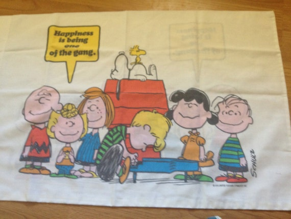 Vintage Snoopy Pillow Case