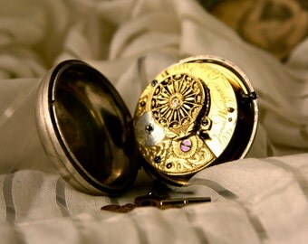 1794 Antique James Woodgrove Fusee Verge Pocket Watch from London - Winds & Works - Silver Pair Case -Beautiful Engraving Over 200 Years Old