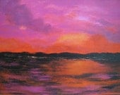 Abstract Sunset original minimalist painting