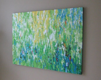 ORIGINAL ABSTRACT Painting XL 36x48 Spring Park