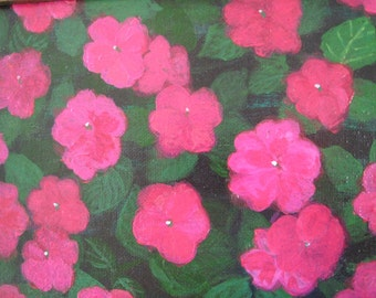 Impatiens Original Painting 8x10 Everlasting Mothers Day Flowers