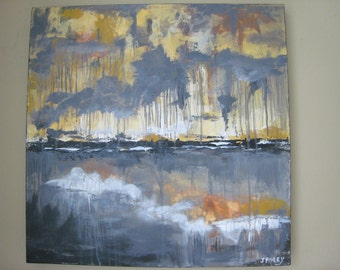 Original Abstract Landscape Painting Another Time