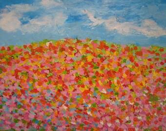 Original Abstract Painting Kaleidescope Fields