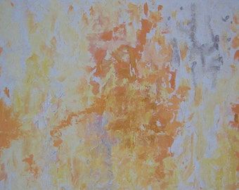 Original Abstract Painting Mango impasto