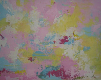 Tropic Graffitti 2 Original pastel Abstract painting