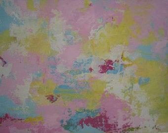 Tropic Graffitti 2 Original pastel Abstract painting