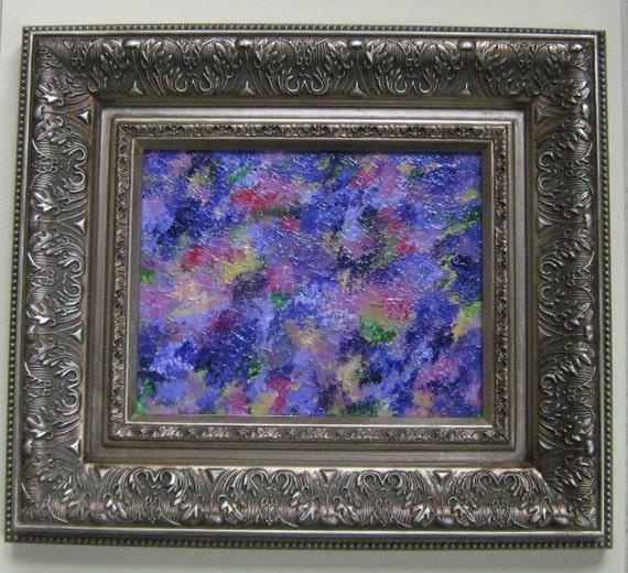 Original Abstract Painting impressionist purple landscape