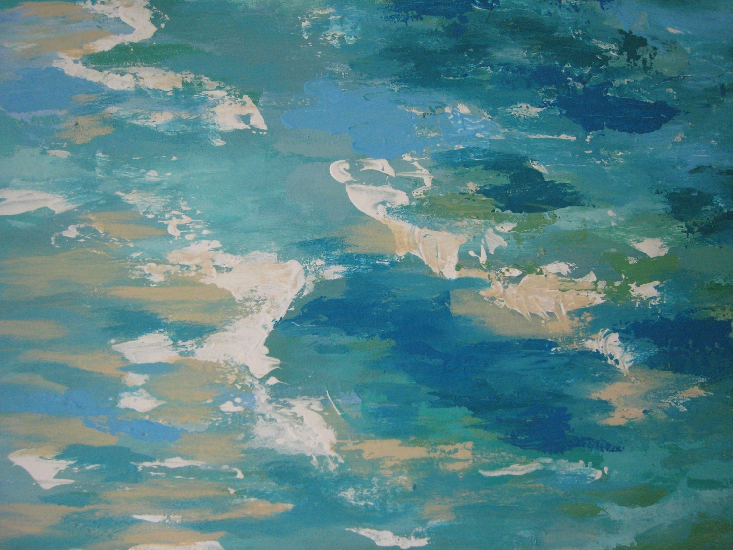 Reserved Abstract Ocean Original textured painting