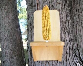 Squirrel Feeder, Wooden Ear Corn Feeder