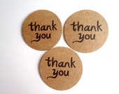 "Paper Tags ""Thank You"", Brown Kraft Paper (30 count incl. paper twine)"