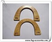 16.5cm X 11.5cm natural rubber wooden purse handles