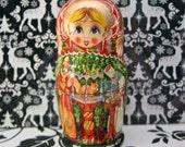 Fairytale Russian/Matryoshka dolls, set of five beautifully painted
