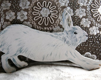 Fabulous Large Wooden Snow Hare
