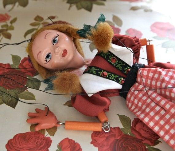 Alluring Vintage Pelham Gretel Fairytale Puppet