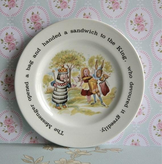 Vintage English Alice In Wonderland Tea Plate