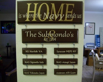 Home is where the Air Force/Army/Navy/Marines/Coast Guard sends us sign