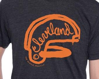 Cleveland Football Helmet Short Sleeve Shirt