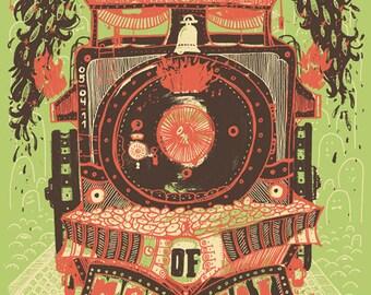 Of Montreal Silk Screened Poster