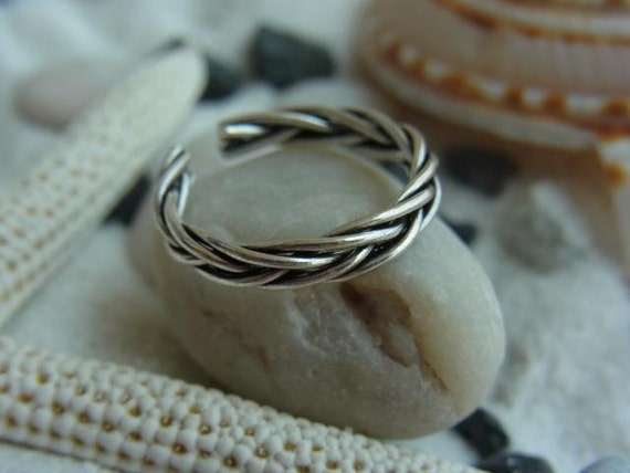 Woven Sterling silver toe ring