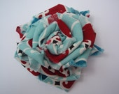 SALE Red, white, and blue fabric rosette